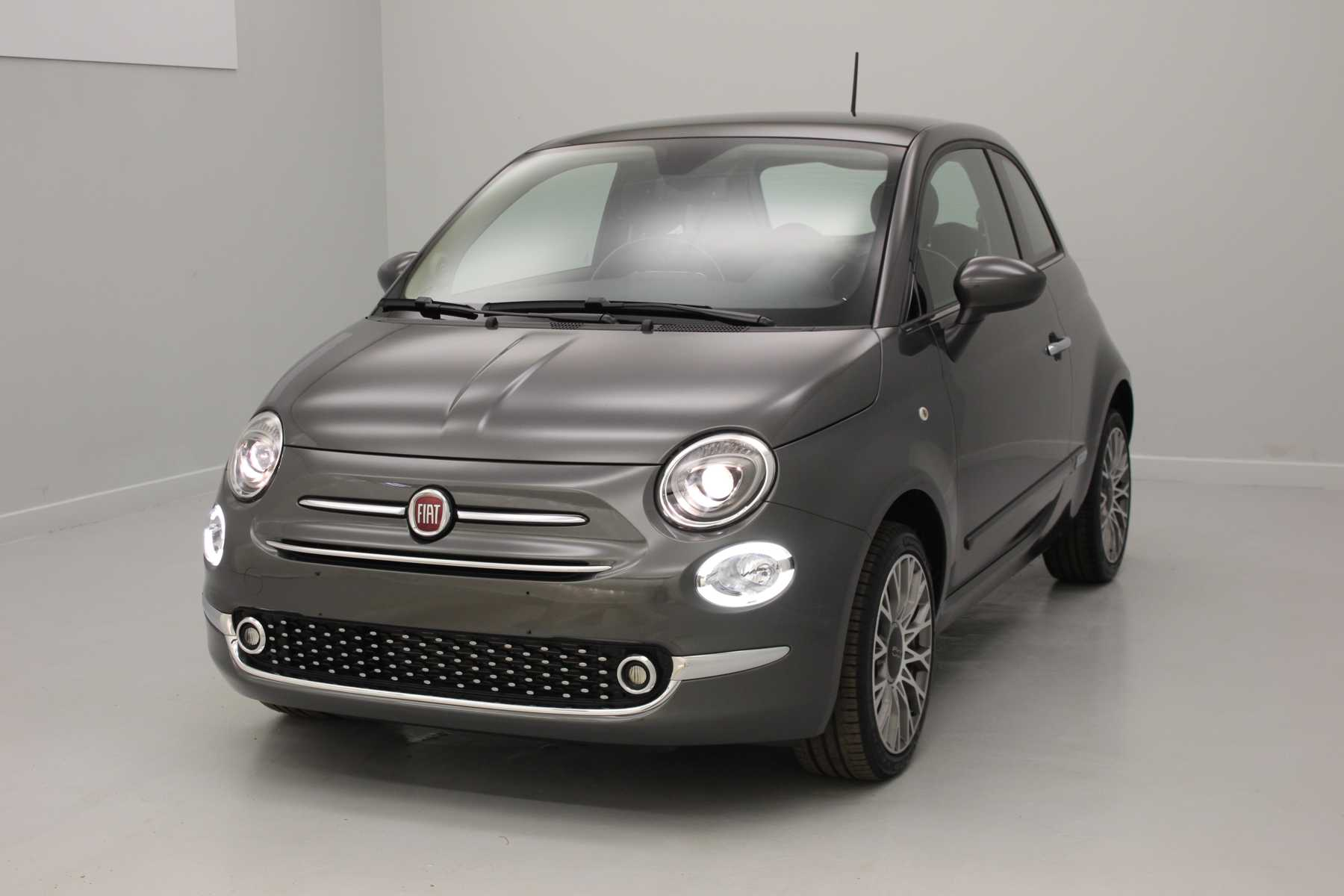 FIAT 500 1.2 69 ch Lounge Eco Pack Groove Metal Grey + Climatisation automatique avec options